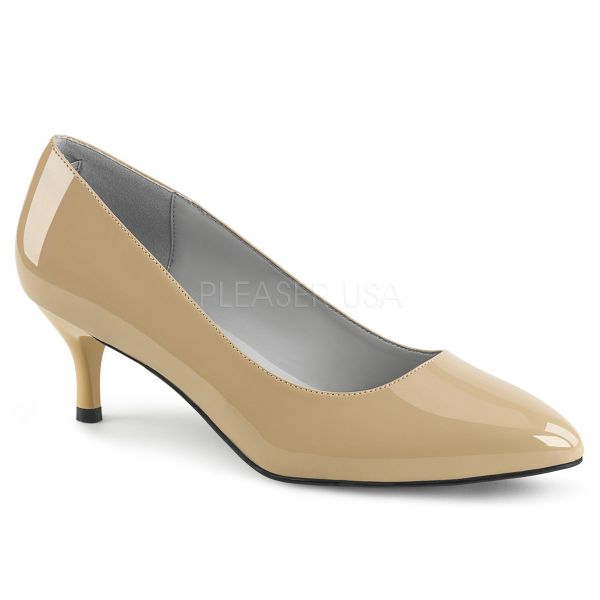 Klassische Pumps in nude Lack KITTEN-01
